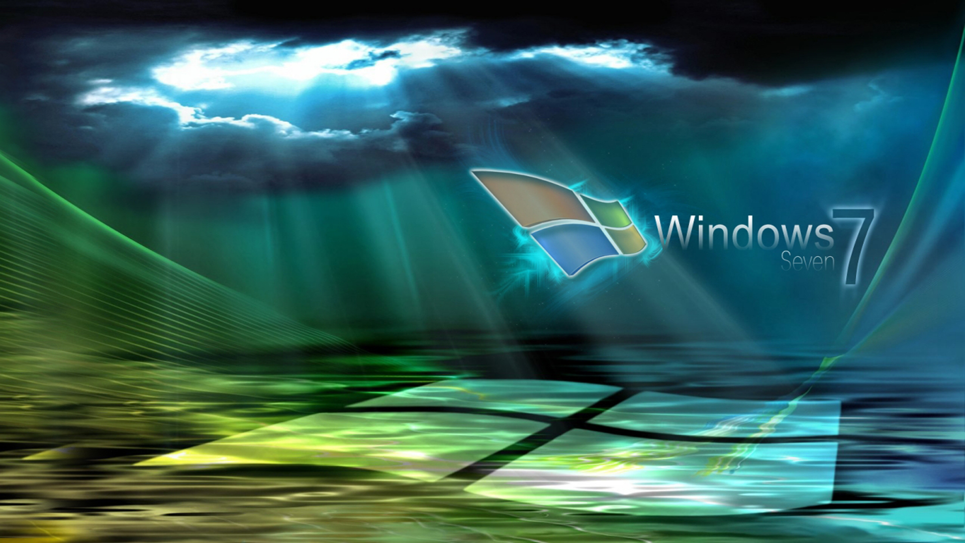 Windows 7 groen blauw